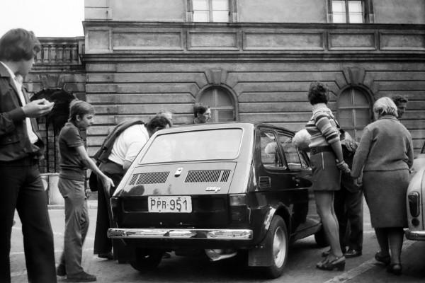 Jeden z pierwszych Fiatów 126 w Polsce - 1973 (fot. wikipedia.pl)