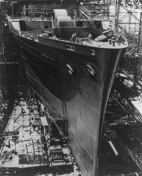SS America podczas budowy (fot. wikipedia.org)