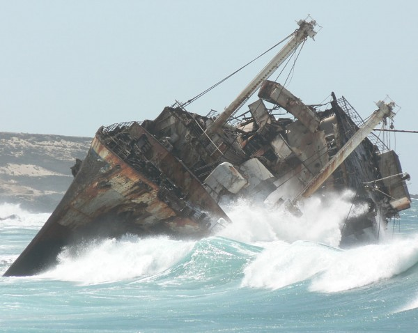 Pozostałość dziobu American Star Fuerteventura 2006 rok (fot. Ian Pullen)