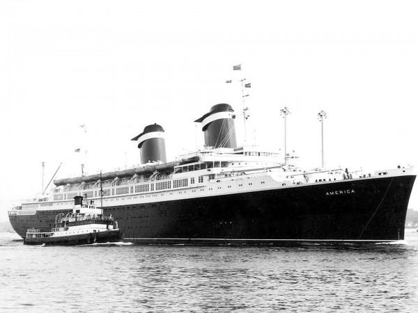 SS America w Southampton na początku 60. (fot. Chris Howell)