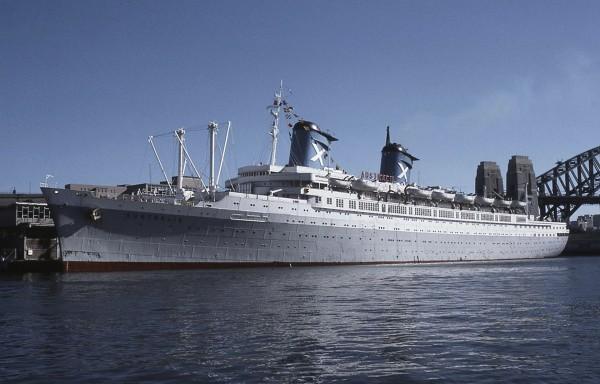 SS Australis w Sydney, 1978 rok (fot. Peter Davey)