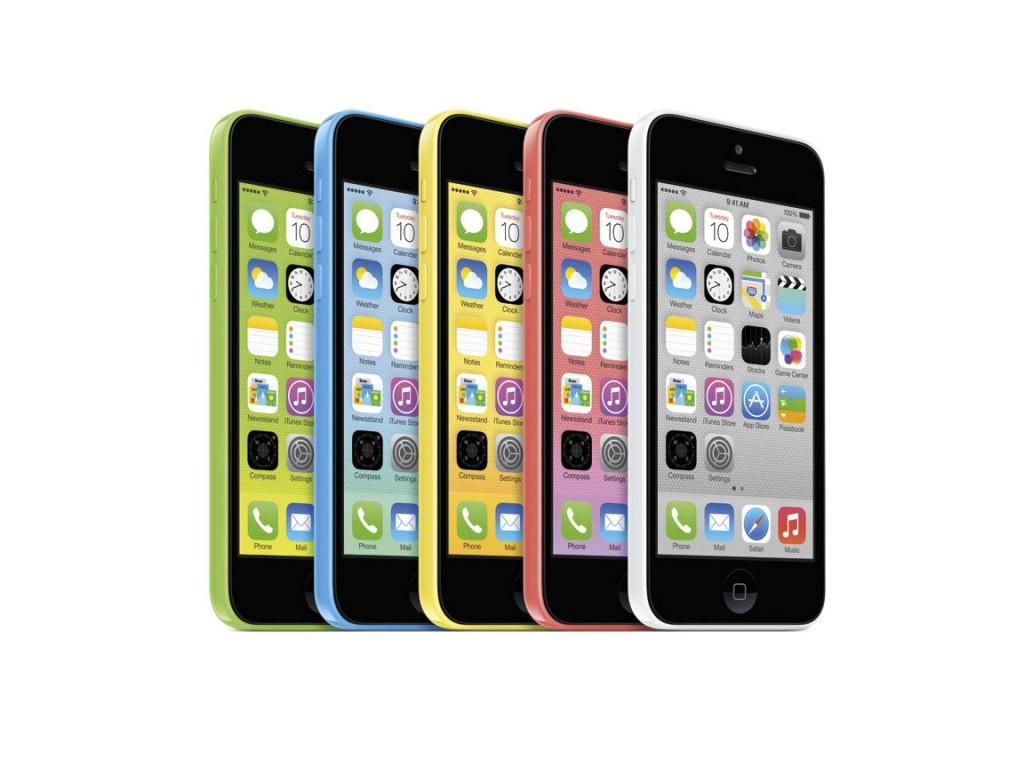 iPhone 5c w różnych kolorach