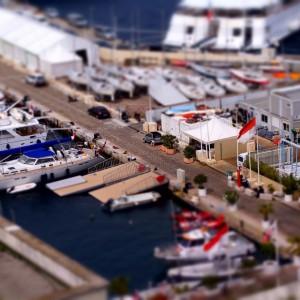 """Port w Monako w """"miniaturze"""" (fot. Michał Banach)"""