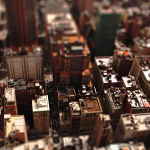 Nowy Jork z innej perspektywy (efekt uzyskany dzięki Photoshopowi) (fot. Michał Banach)