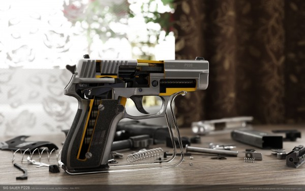 SigSauer P228 (render by by ABiator)