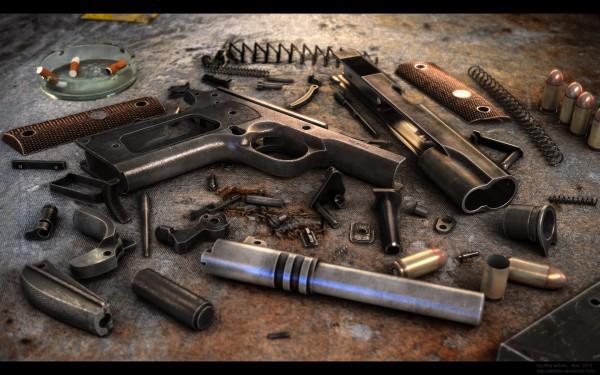 Colt 1911 (render by ABiator)