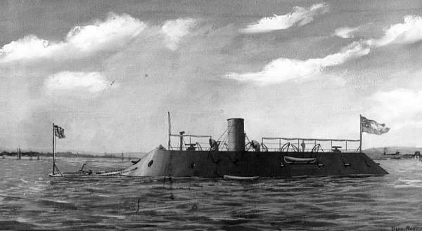 Obraz Clary Ray z 1898 przedstawiający CSS Virginia