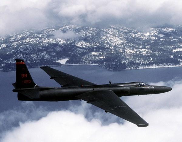 U-2 podczas lotu - zdjęcie z 1992 roku