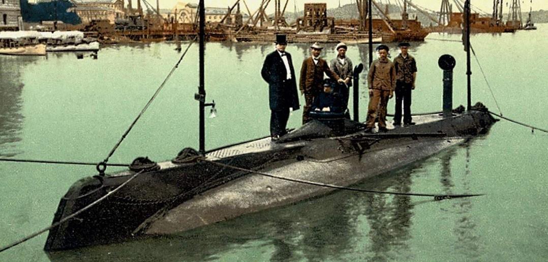 USS Holland (SS-1) (fot. Arnold Putnam)