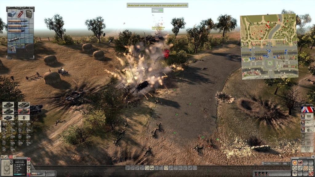 Efektowna eksplozja lekkiego czołgu