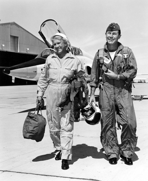 Jacqueline Cochran i Chuck Yeager w 1962 roku
