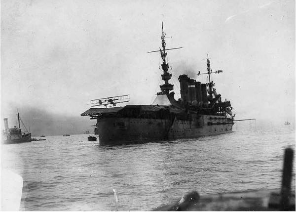 Pierwsze lądowanie na pokładzie okrętu - 18 stycznia 1911 roku