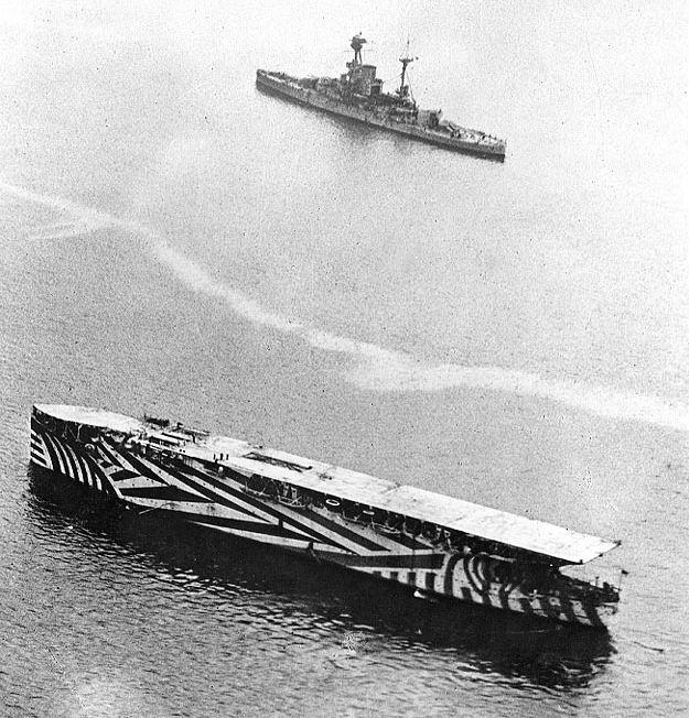 Pierwszy prawdziwy lotniskowiec - HMS Argus w 1918 roku