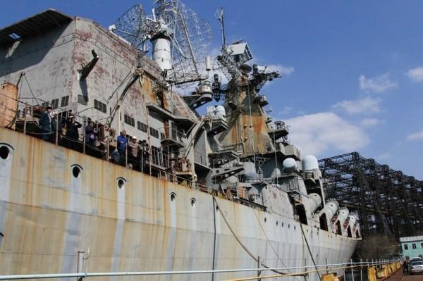 Krążownik rakietowy Ukraina (fot. englishrussia.com)