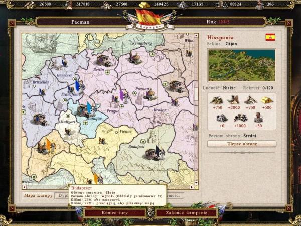 Kozacy 2 Bitwa o Europę: Mapa strategiczna