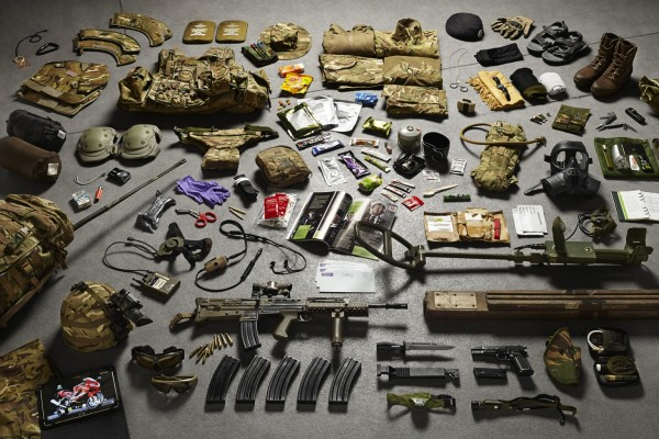 Strzelec wsparcia, saper, Royal Engineers, prowincja Helmand, Afganistan 2014 (fot. Thom Atkinson)