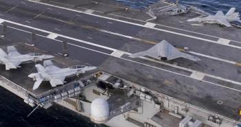 Znak czasów - bezzałogowiec X-47B i F/A-18 na wspołnych misjach