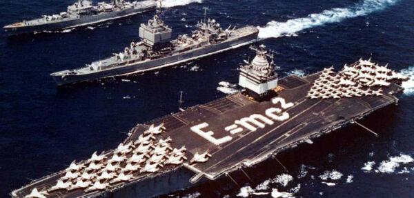 Zespół Task Force 1 - lotniskowiec USS Enterprise oraz krążowniki USS Long Beach i USS Bainbridge
