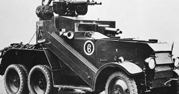 Crossley Armoured Car D2E1 z wieżyczką przeciwlotniczą