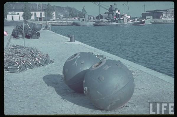 Port w Gdynii w 1939 roku po zdobyciu przez niemców (fot. Hugo Jaeger)