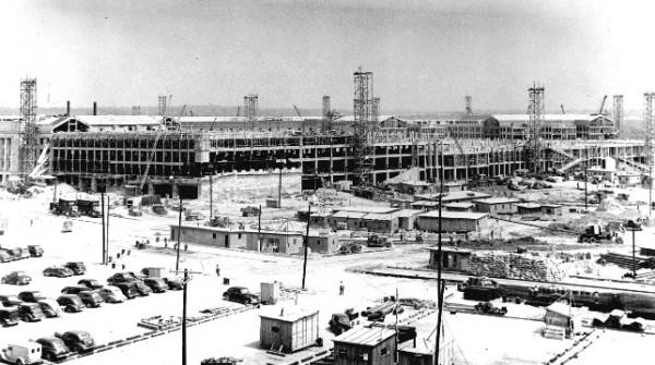Pentagon podczas budowy - 1942 rok