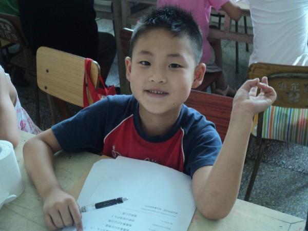 Ośmioletni Owen, pianista, jeden z moich uczniów w szkole w Fangshan.