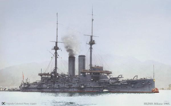 Pancernika Mikasa w 1905 roku
