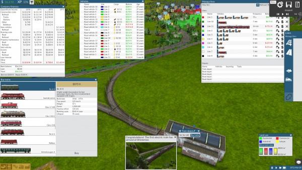 Z czasem dostajemy dostęp do sporej liczby pociągów
