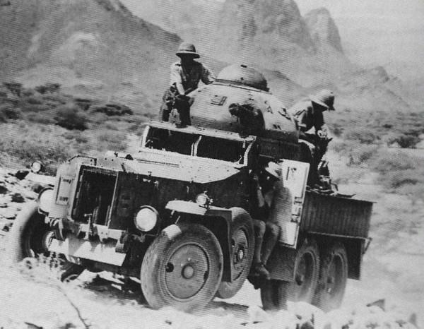 Crossley Armoured Car w wersji Indyjskiej