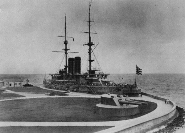 Mikasa po ponownym uruchomieniu jako okręt Muzeum