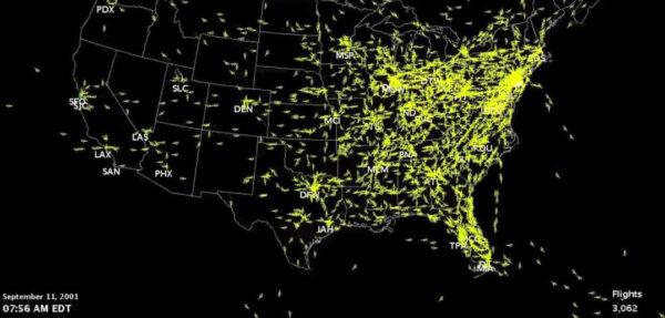 Zamknięcie przestrzeni powietrznej USA 11 września 2001