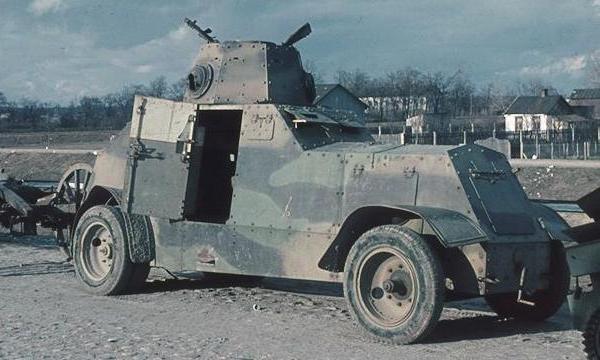 Zdobyty polski samochód pancerny wz. 29 (got. Hugo Jaeger)