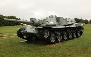 Jeden z lepiej zachowanych MBT-70 w Aberdeen Proving Grounds (fot. Michał Banach)