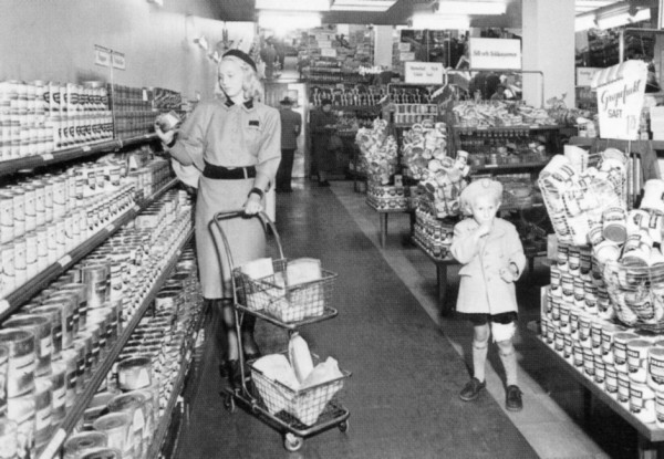 Super market w Szwecji w latach 40.