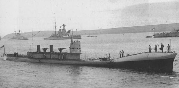 Jeden z okrętów podwodnych typu K
