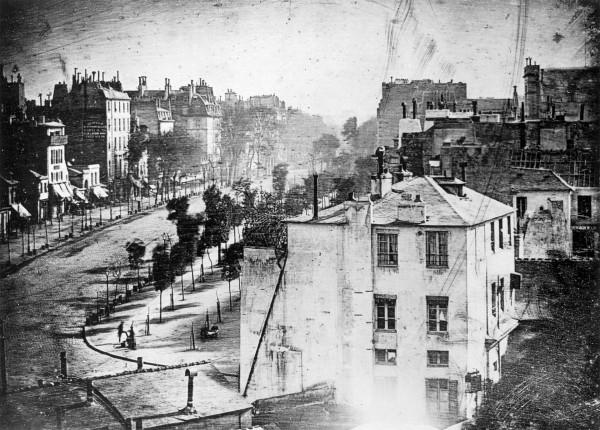 Boulevard du Temple (fot. Louis Daguerre)