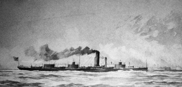 USS Roanoke po przebudowie - rysunek