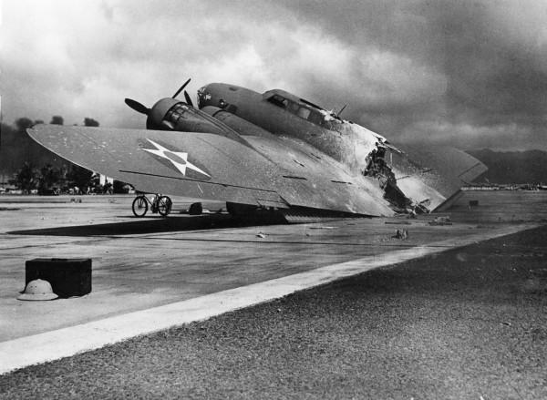 Zniszony B-17
