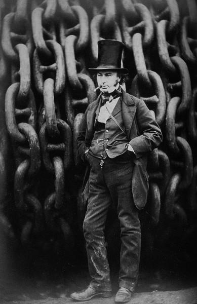 Zdjęcie przedstawiające Isambarda Kingdom Brunel w 1857 podczas budowy Great Eastern (fot. Robert Howlett)