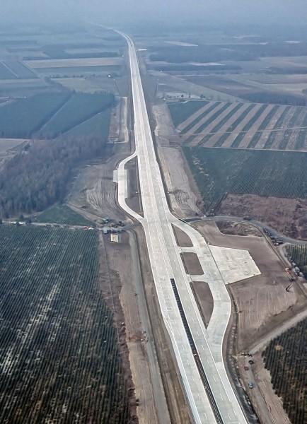 Niemiecka autostrada Autobahn A29 - jeden z typowych DOL-i