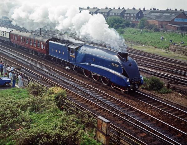 LNER Class A4 Mallard w 1988 roku kiedy jeszcze był na chodzie