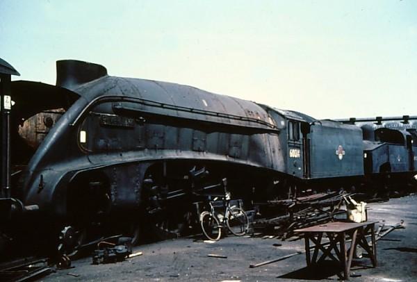 LNER Class A4 2509 Silver Link podczas złomowania