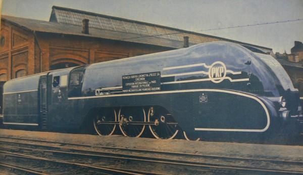 Pm36-1 - najszybszy parowóz zbudowany w Polsce - mógł osiągać prędkość 140 km/h, ale tylko na wybranych trasach