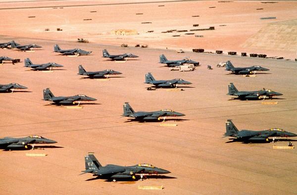 Amerykańskie F-15E Eagle w Arabii Saudyjskiej