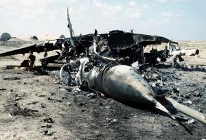 Zniszczony iracki MiG-29