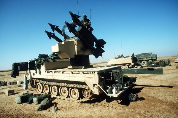 W trakcie walk amerykańska obrona przeciwlotnicza nie miała z kim walczyć (na zdjęcie M-48 Chaparral)