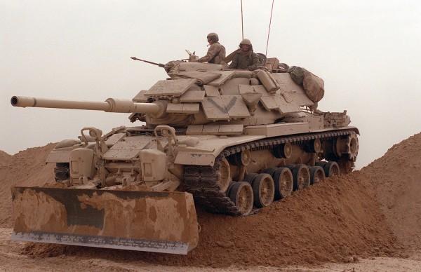 W walkach wykorzystywano również czołgi M60