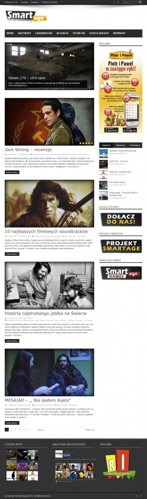 Portal SmartAge.pl w lutym 2014 roku zaraz po przebudowie i oficjalnym starcie strony