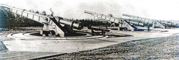 Jedna z lądowych baterii dział dynamitowych