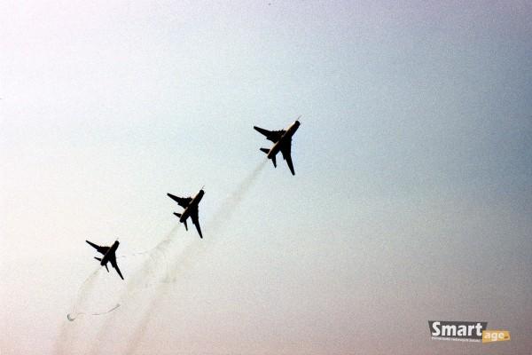 Su-22 podczas pokazów w Poznaniu w 1989 roku (fot. Rafał Banach)